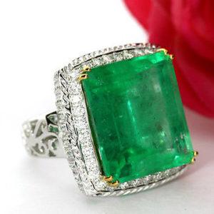 WELTKLASSE-Smaragd-Brillant-Ring-3006-carat-in-Weigold-Wert-100000-EURO-0
